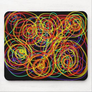 Mousepad Design Indie da arte do escritório dos redemoinhos