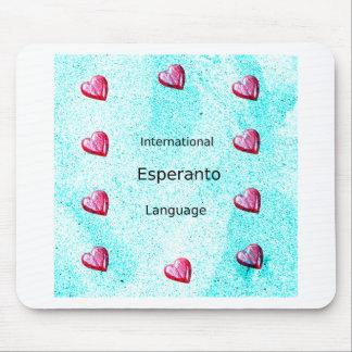 Mousepad Design internacional da língua do esperanto