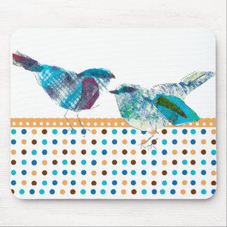 Mousepad Design moderno do pássaro azul retro bonito das