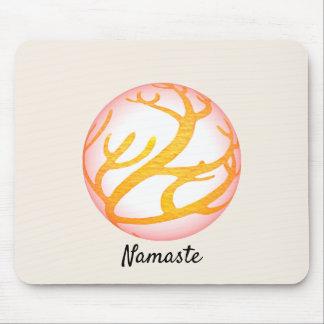 Mousepad design oriental Namaste da esfera 3D