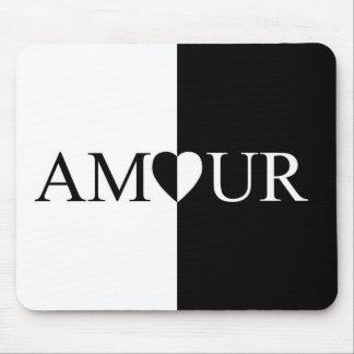 Mousepad Design preto e branco do amor do CASO AMOROSO