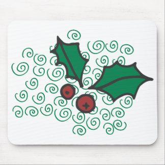 Mousepad Design vermelho e verde moderno do azevinho do