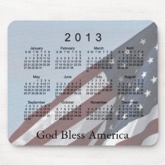 Mousepad Deus abençoe América de 2013 calendários