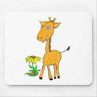 Mousepad dia do divertimento do girafa