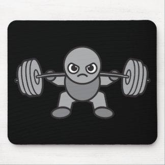 Mousepad Dia do pé - ocupa - Weightlifter de Kawaii