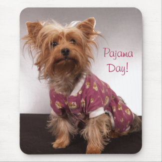 Mousepad Dia do pijama de Yorkie