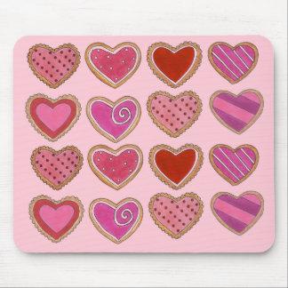 Mousepad Dia dos namorados do amor dos biscoitos do coração