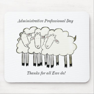Mousepad Dia profissional administrativo - obrigados