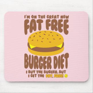 Mousepad Dieta livre de gordura do hamburguer