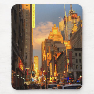 Mousepad Distrito NYC do teatro do Midtown do por do sol da