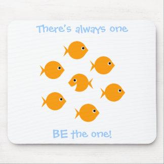 Mousepad Dizer de inspiração do peixe dourado bonito dos