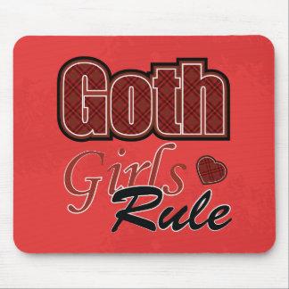 Mousepad Dizer vermelho da regra das meninas do gótico da