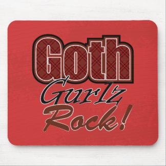 Mousepad Dizer vermelho da rocha de Gurlz do gótico da