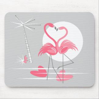 Mousepad do amor do flamingo horizontal