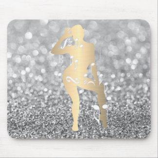 Mousepad Do brilho musical da menina da dança da taberna