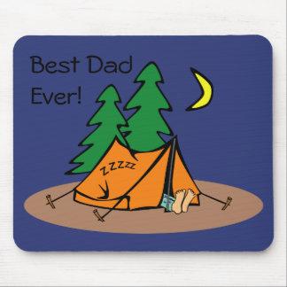 """Mousepad Do """"campista nunca"""" de sono melhor pai"""