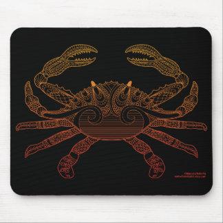 Mousepad Do esboço náutico da arte do caranguejo preto