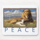 Mousepad do leão e do cordeiro da paz