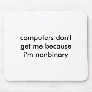 Mousepad do nerd de Nonbinary