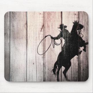 Mousepad Do país de madeira rústico do celeiro do vaqueiro
