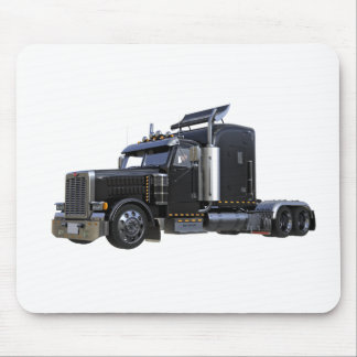 Mousepad Do preto caminhão do reboque de tractor semi
