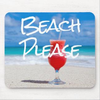 Mousepad Do Sandy Beach bebida vermelha bonita do daiquiri