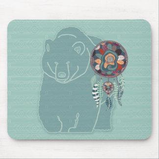 Mousepad Do urso tribal do espírito do nativo americano