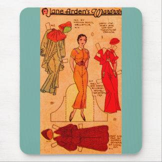 Mousepad do vestido azul de papel da boneca de Jane Arden