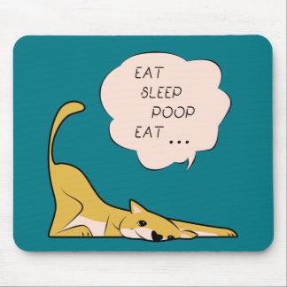 Mousepad dog_eatsleeppoop