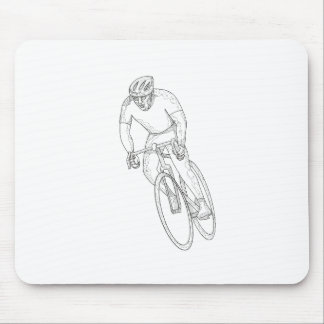 Mousepad Doodle de competência da bicicleta da estrada