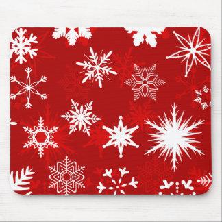Mousepad dos flocos de neve do Natal