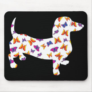 Mousepad Doxie-Borboleta--Branco