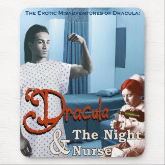 Mousepad Dracula e a enfermeira de noite