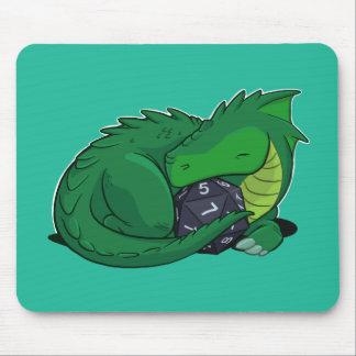 Mousepad Dragão D20 verde