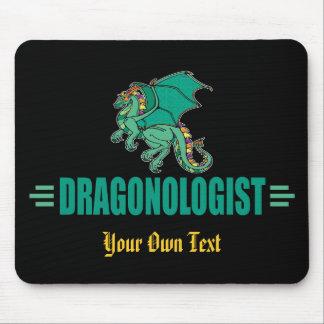 Mousepad Dragão verde engraçado Dragonologist