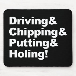 Mousepad Driving&Chipping&Putting&Holing (branco)