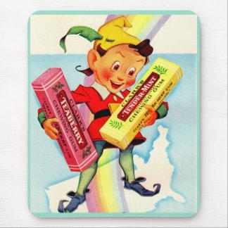 Mousepad duende da pastilha elástica de Clark dos anos 40