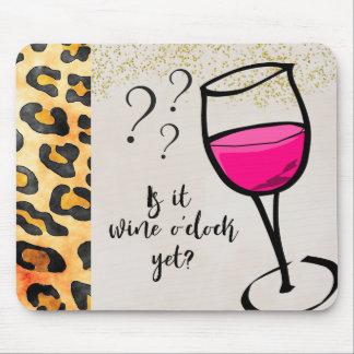Mousepad É hora do vinho ainda? Engraçado
