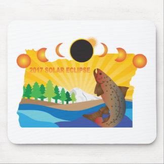 Mousepad Eclipse 2017 solar através da ilustração do mapa
