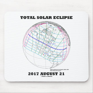 Mousepad Eclipse solar 2017 o 21 de agosto total America do