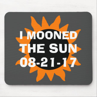 Mousepad Eclipse solar total eu Mooned o Sun