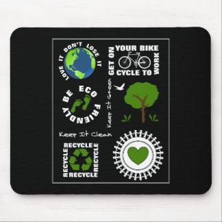 Mousepad Eco amigável vai terra verde do planeta do amor