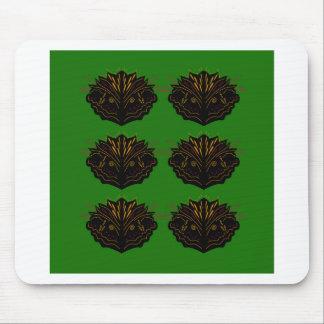 Mousepad Eco do preto do verde dos elementos do design