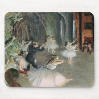Mousepad Edgar Degas   o ensaio do balé no palco