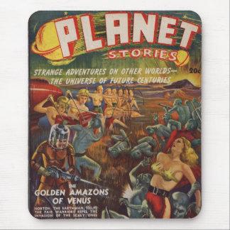 Mousepad Edição da polpa das histórias SF do planeta ?a