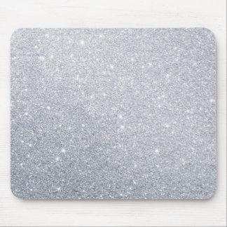 Mousepad efeito cinzento do falso do brilho de prata