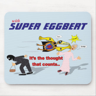 Mousepad Eggbert super na ação! Tapete do rato