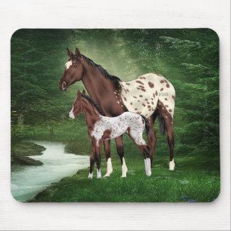 Mousepad Égua e potro do cavalo do Appaloosa