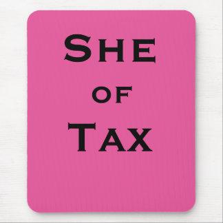 Mousepad Ela do preparador de imposto fêmea do contador do