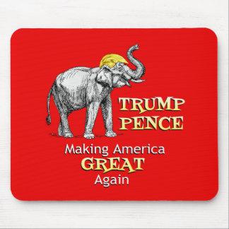 Mousepad Elefante das moedas de um centavo do trunfo que